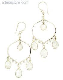 Large Moonstone Chandelier Earrings at Arte Designs