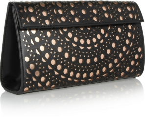Laser Cut Leather Clutch by Alaia at Net A Porter