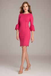 Laser-Cut Sheath Dress by Teri Jon at Teri Jon