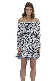 Latte Leopard Mini Flip Dress by By Johnny. at By Johnny