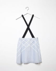 Lattice Suspender Skirt by Band of Outsiders at La Garconne