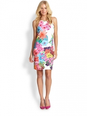 Laundry by Shelli Segal - Floral Neoprene Sheath at Saks Fifth Avenue