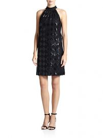 Laundry by Shelli Segal - Sequined Diamond-Lace Dress at Saks Fifth Avenue