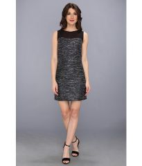 Laundry by Shelli Segal Sequin Boucle and Chiffon Sleeveless Dress Moody Blue at 6pm