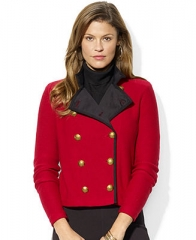 Lauren Jeans Co Long-Sleeve Double-Breasted Military Cardigan - Jackets and Blazers - Women - Macys at Macys