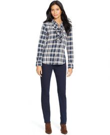 Lauren Jeans Co Plaid Ruffled Cotton Shirt at Macys