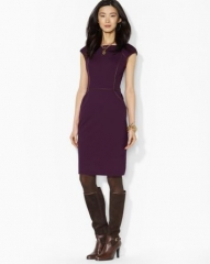 Lauren Ralph Lauren Cap Sleeve A-Line Dress at Bloomingdales