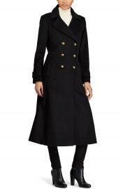 Lauren Ralph Lauren Double Breasted Long Coat at Nordstrom