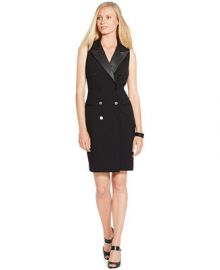 Lauren Ralph Lauren Double-Breasted Sleeveless Dress at Macys