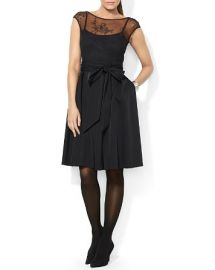 Lauren Ralph Lauren Dress - Illusion Lace Bodice at Bloomingdales