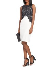 Lauren Ralph Lauren Lace Bodice Color-Blocked Dress at Bloomingdales