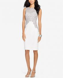Lauren Ralph Lauren Lace Crepe Dress at Macys