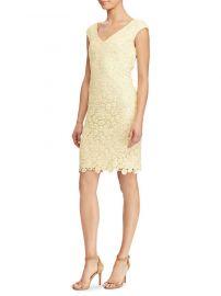 Lauren Ralph Lauren Lace V-Neck Dress at Lord & Taylor