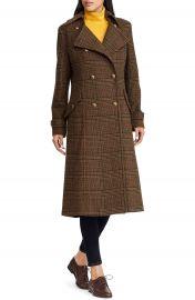 Lauren Ralph Lauren Plaid Wool Blend Coat   Nordstrom at Nordstrom