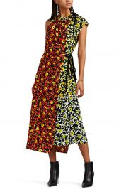 Layered Floral Crepe Asymmetric Dress at Barneys
