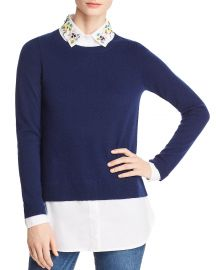 Layered-Look Embellished Sweater at Bloomingdales