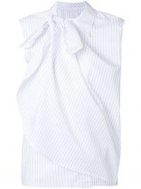 Layered Stripe Sleeveless Shirt by MM6 Maison Margiela at Farfetch