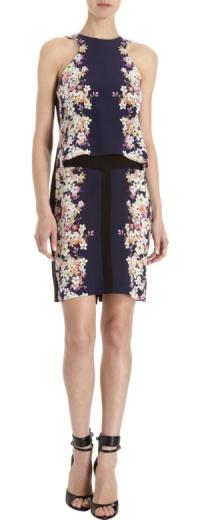 Layered floral tank dress by ICB at Barneys