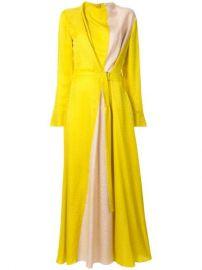 Layeur Contrast Panel Long Dress - Farfetch at Farfetch