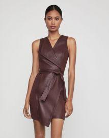 Layla Asymmetrical Pleather Dress by Bcbgmaxazria at Bcbg