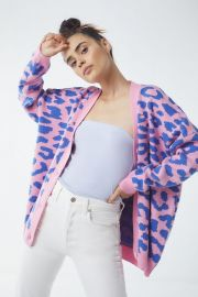 Lazy Oaf Pink Leopard Cardigan at Urban Outfitters