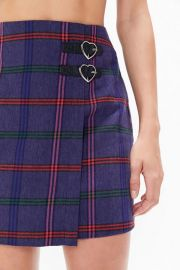 Lazy Oaf Plaid Wrap Skirt at Urban Outfitters