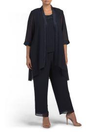 Le Bos Three Piece Pant Suit at TJ Maxx