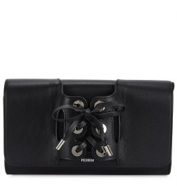 Le Corset Grained Leather Clutch by Perrin Paris at Harvey Nichols