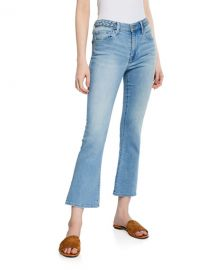 Le Crop Mini Boot-Cut Jeans with Braided Waistband by Frame at Bergdorf Goodman