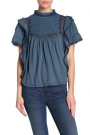 Le Femme Ruffled Babydoll Top by Free People at Nordstrom Rack