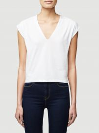 Le High Rise Vneck Tee at Frame