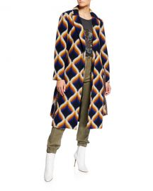Le Superbe Amanbaugh Long Wrap Coat at Neiman Marcus