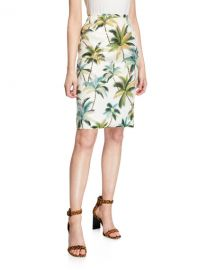 Le Superbe Hawaiian Shine Sequin Palm-Tree Pencil Skirt at Neiman Marcus