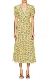 Lea Algae-Print Silk Midi-Dress at Barneys
