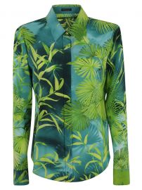 Leaf Print Shirt by Versace at Italist