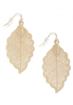 Leaf earrings from ModCloth at Modcloth