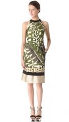Leaf print halter dress by Giambattista Valli at Shopbop