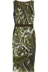 Leaf print linen dress by Giambattista Valli at The Outnet