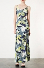 Leaf print maxi dress by Topshop at Nordstrom