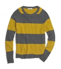 Leafstitch stripe sweater at Madewell