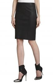 Leah Leather Pencil Skirt at Bcbg
