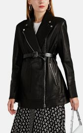 Leather Belted Moto Jacket by Akira Naka at Barneys Warehouse