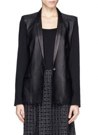 Leather Blazer by Helmut Lang at Lane Crawford