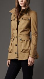 Leather Detail Field Jacket at Burberry