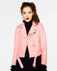 Leather Effect Jacket at Zara