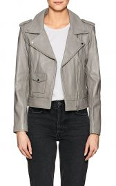Leather Moto Jacket  Barneys New York at Barneys Warehouse