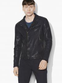 Leather Motocross Jacket by John Varvatos at John Varvatos