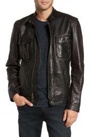 Leather Zip Front Jacket at John Varvatos