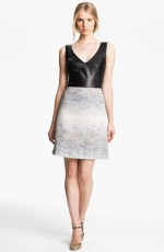 Leather and jacquard dress by LAgence at Nordstrom