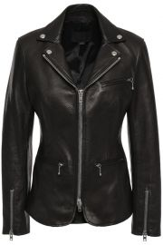 Leather biker jacket at The Outnet